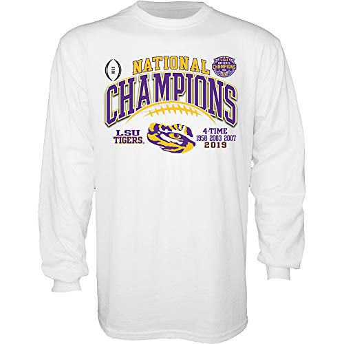 Elite Fan Shop LSU Tigers National Championship Champs Tshirt 2019-2020 Championship Bound