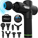 Massage Gun Deep Tissue Percussion Muscle Massager for Pain Relief, 20 Adjustable Speed 9 Replaceable Heads Handheld Electric Body Massager Super Quiet Brushless Motor