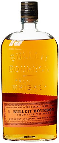 Bulleit Bourbon Frontier Whiskey, High Rye Whiskey gebrannt & gereift nach der Kentucky Tradition, 1 x 0,7l