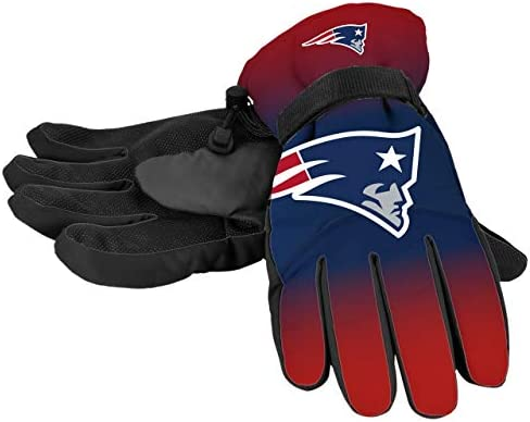 New England Patriots NFL Gradient Big Logo Insulated Gloves S M product image