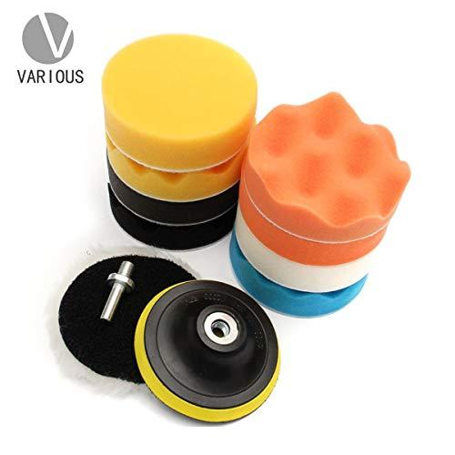 Esponja Pulir para Coche, Almohadillas de Pulido,11 pcs-80 mm/3 Inch