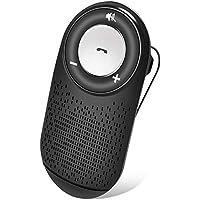 (Español) Manos Libres para Coche Kit Auto Power On Adaptador Audio Bluetooth con Siri y Google Asistente, Altavoz Fuerte con Subwoofers, Soporta GPS, Música, Altavoz Inalámbrico para Móviles