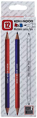 Caja de 12 lápices bicolor grueso rojo azulado H3423 KOHINOOR [H3423]