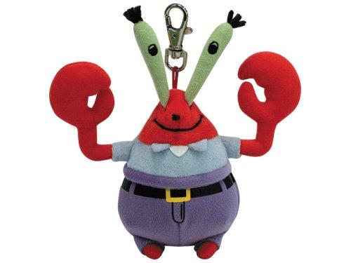 TY Beanie Baby - MR KRABS ( SpongeBob Squarepants - Metal Key Clip )
