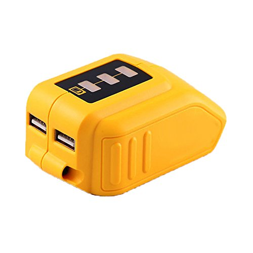 Weistar 12V/20V Max USB Power Source for Dewalt DCB090 Converters Adapter Lithium Battery