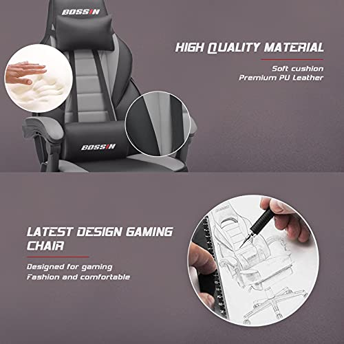BOSSIN Racing Style Gaming Chair,...