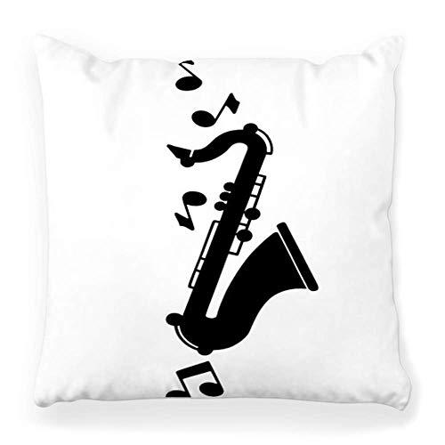 LXJ-CQ Kissenbezug 18x18 Retro Clipart Jazz Musik 50er Jahre 50er Jahre Werbung Kunst Clip Unterhaltung 50er Jahre Vintage 40er Jahre 40er Jahre Americana Kissenbezug