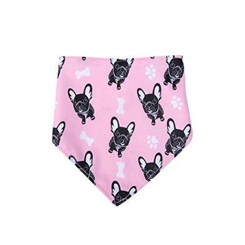 Gouen Cat Dog Bandana Bibs Scarf Collar Adjustable Pet Neckerchief Scarf Waterproof Saliva Towel for Small Medium Large Dogs,Pink,L
