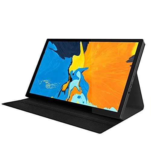 Monitor portátil de 8,9 pulgadas Full IPS HD pantalla 1920 x 1080, relación 16: 9, pantalla táctil con conexión HDMI tipo C para PC, teléfono móvil, Raspberry Pi, etc. con funda protectora