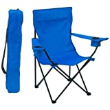 SOCHEP Portable Folding Camping Chair Fishing Beach Outdoor Collapsible Patio Chair- Polyester with Steel Frame (Multicolor)