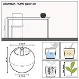 LECHUZA Puro Color Schiefergrau Komplett-Set 16 cm hoch - 5