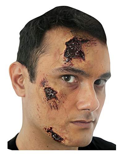 Horror-Shop 3 teiliges blutiges Narben Set