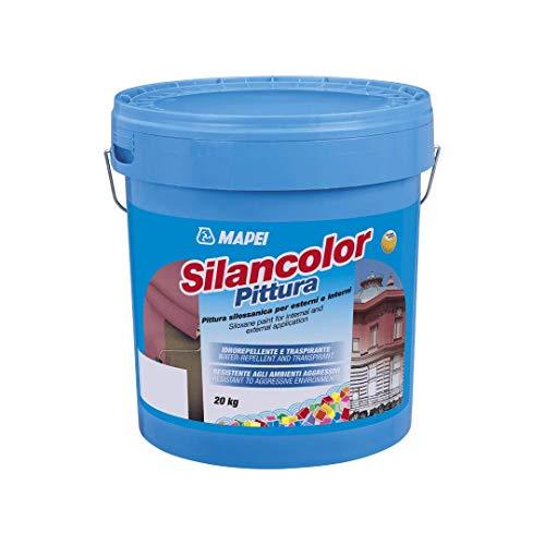 Pintura siloxánica para exterior e interior, 20 kg Silancolor Pintura Mapei - Color blanco
