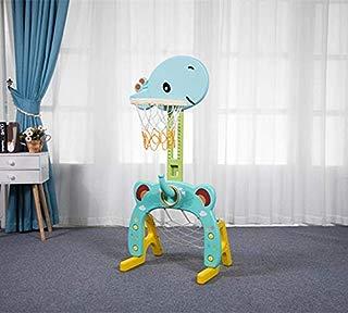 Basketball Hoop Set, 3 in 1 Sports Activity Center Grow-to-Pro Adjustable Easy Score Basketball Hoop, Football / Soccer Goal, Ring Toss Cute Giraffe Best Gift for Baby Infant Toddler
