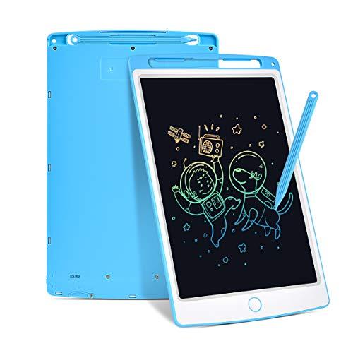 RAINCHIC - Pizarra de escritura LCD de 10 pulgadas para niños - Tablet de escritura electrónica con escritura colorida, pizarra digital, Doodle Pads Azul