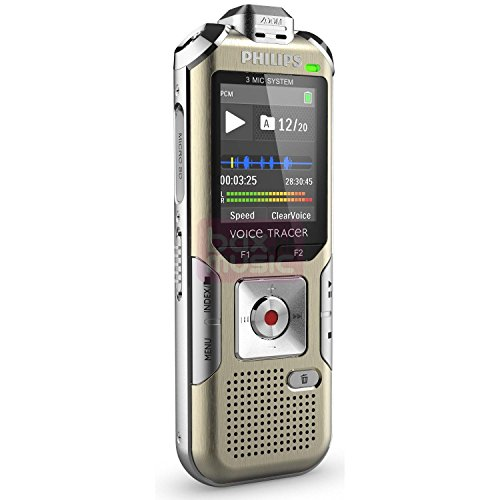 Philips DVT6500 Voice Tracer Digital Recorder with 3 Microphone High...