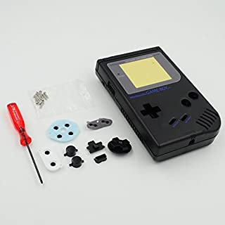 New Full Housing Shell Case Cover for Nintendo Gameboy Classic 1989 GB DMG Console Black