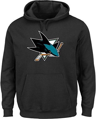 NHL Kaputzenpullover/Hoody/Hoodie SAN JOSE SHARS black Logo in MEDIUM (M) hooded Sweater
