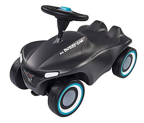 BIG-Bobby-Car Neo Anthrazit, Rutschfahrzeug für drinnen und draußen, Kinderfahrzeug mit Flüsterreifen und zwei Felgen farben zum tauschen, für Kinder ab 1 Jahr