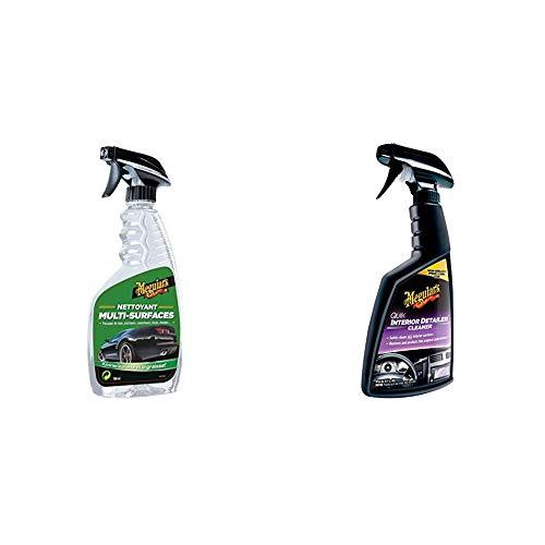 Meguiar's G9624EU All Purpose Cleaner Allzweckreiniger, 710 ml &  G13616EU Quik Detailer Interior Innenraumreiniger, 473 ml