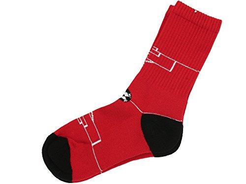 MP Strümpfe Socken, Jungen 7785 Fußball, Rot (3139), Gr. 37-39