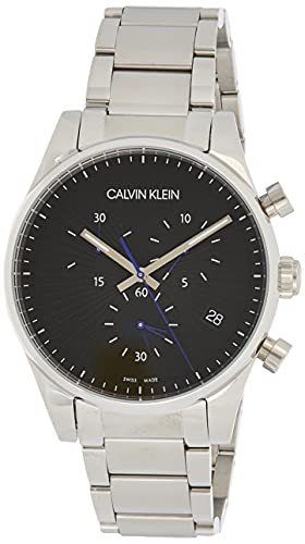 Calvin Klein Reloj cronógrafo de cuarzo para hombre con correa de acero inoxidable K8S27141