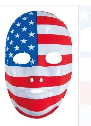 Lot de 12 Masques Plastique Drapeau des USA