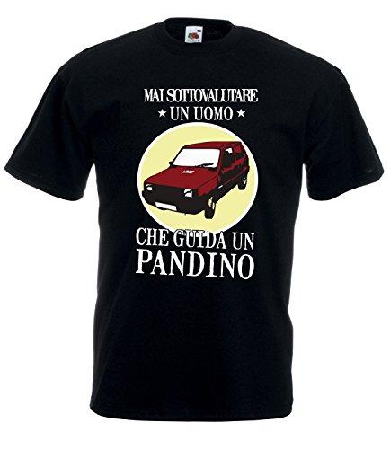 Settantallora - T-Shirt Maglietta J1704 Mai Sottovalutare Un Uomo Che Guida Un Pandino Taglia L