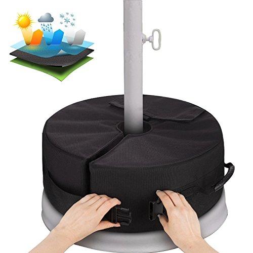 Sammiu Umbrella Base Weight Bag Wetter- und UV-beständige Sandsäcke bis zu 110 Pfund Sand passen auf jeden versetzten Patio-Schirmständer im Freien