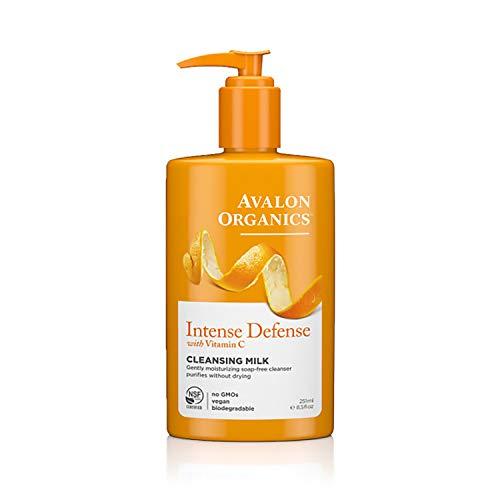 Avalon Organics Cleansing Milk, Intense Defense with Vitamin C, 8.5 Oz