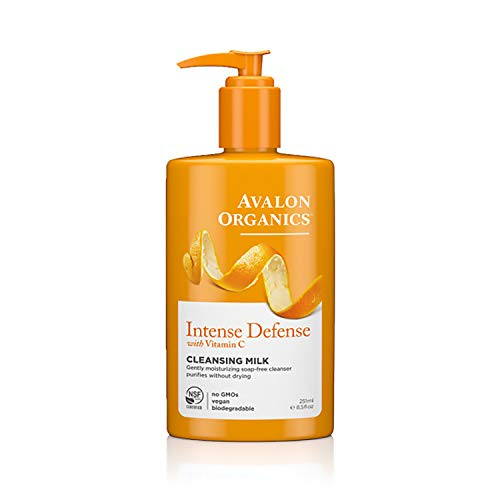Avalon Organics Cleansing Milk, Intense Defense with Vitamin C, 8.5 Oz