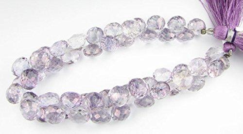 Beads Gemstone Purple Mystic Quartz Faceted Onion Candy Kiss Briolette Gems 6mm - 7mm (6 Gemstone Beads) Code-HIGH-69545