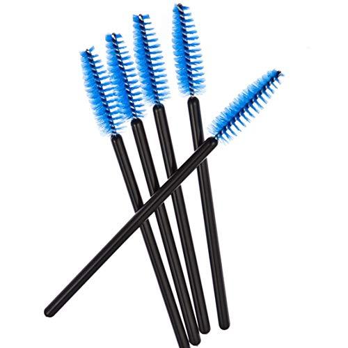 Make-up-Pinsel, Einweg-Pinsel, Wimpernpinsel, Mascara, zum Auftragen von Wimpern, Blau, 20 Stück