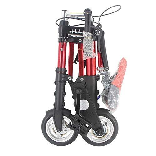 MZLJL Gebirgsfahrrad, A-Bike Unisex 8-Zoll-Rad Mini Ultra Light Faltrad U-Bahn-Transit Fahrzeuge Straßen-Fahrrad Outdoor Sport Bicicleta, Rot, China