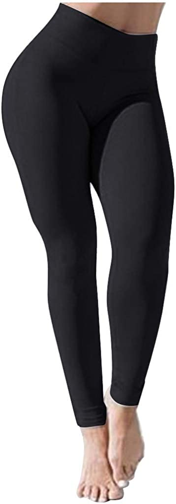 Yoga Pants High Waist Compression Running Leggings Skinny Stretch Pant for Women Tummy Control Effect Activewear