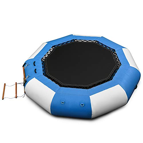 Happybuy 13ft Inflatable Water Bouncer, Water Trampoline Splash Padded Inflatable Bouncer Bounce...