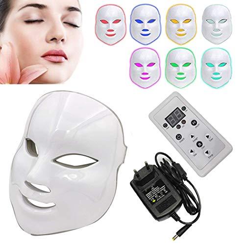 NBD 7Colore LED Maschera luminothérapie LED Maschera Photon con, Beaut del viso Cura di ringiovanimento della pelle photothérapie Trattamento Maschera