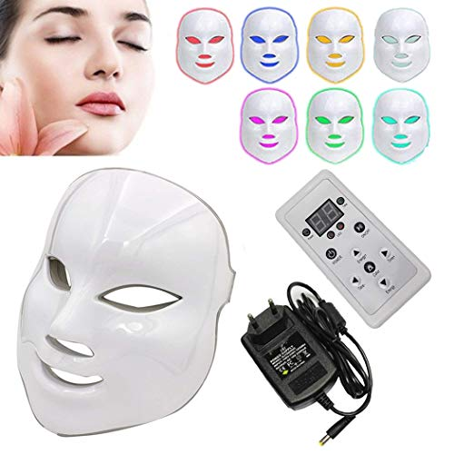 NBD 7 Color LED máscara Light Therapy LED máscara Photon, Beaut Facial el cuidado de rajeunissement de la piel fototerapia Tratamiento máscara
