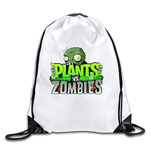 HLKPE Plants Vs Zombies Toys & Action Figures White Drawstring Backpack Sport Bag For Men & Women
