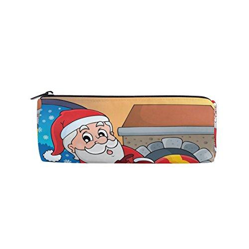 Weihnachten Kamin Federmäppchen Pen Tasche Multifunktions Stationery Tasche Reißverschluss Tasche von bennigiry, Student Reißverschluss Bleistift Inhaber Tasche Geschenk Travel Make-up Tasche