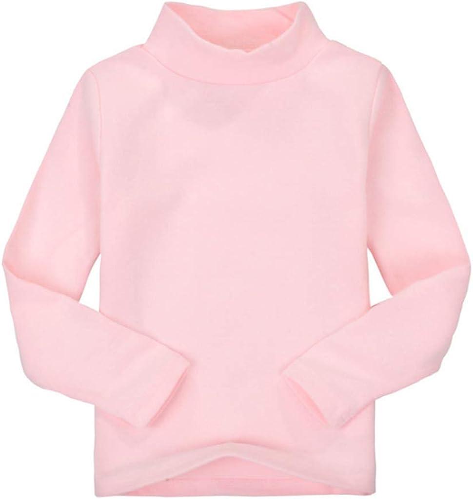 Girls Boys Toddler Long Sleeve T-Shirt Tops Turtleneck Sweatshirts Kids Shirts for 2-6 Years