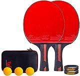 REWD Sets de Ping Pong Conjunto de Bola Pong portátil Mesa de Ping Pong Raqueta de Ping con 2 Raquetas 3 Bolas Gran Regalo for los niños Adultos Interior Juegos al Aire Libre Recto