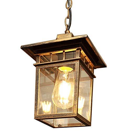 YWSZJ Luminaria de Montaje Semi Empotrado en el Techo, luminarias rústicas, iluminación de la casa de Campo con Acabado en Bronce Antiguo,