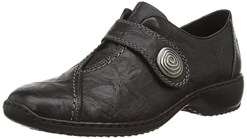Rieker Damen L3870 Slipper, Schwarz (Black 00), 39 EU
