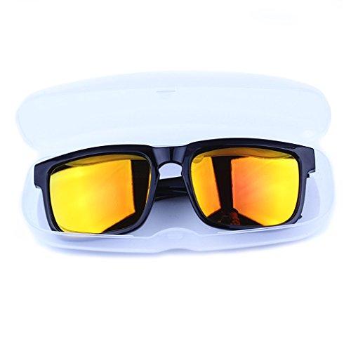 AERVEAL Gafas portátiles Gafas de Sol Estuche rígido Protector de plástico clásico Estuche para Gafas, Gafas portátiles Gafas de Sol Estuche rígido Protector de plástico clásico Estuche para Gafas