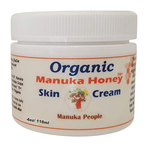 Organic Manuka Honey Intense Moisturizing Baby-Skin Cream – Non-Greasy Deep Hydrating and Healing for Extra-Dry Skin Suitable for All Over Body by MANUKA PEOPLE (4oz)