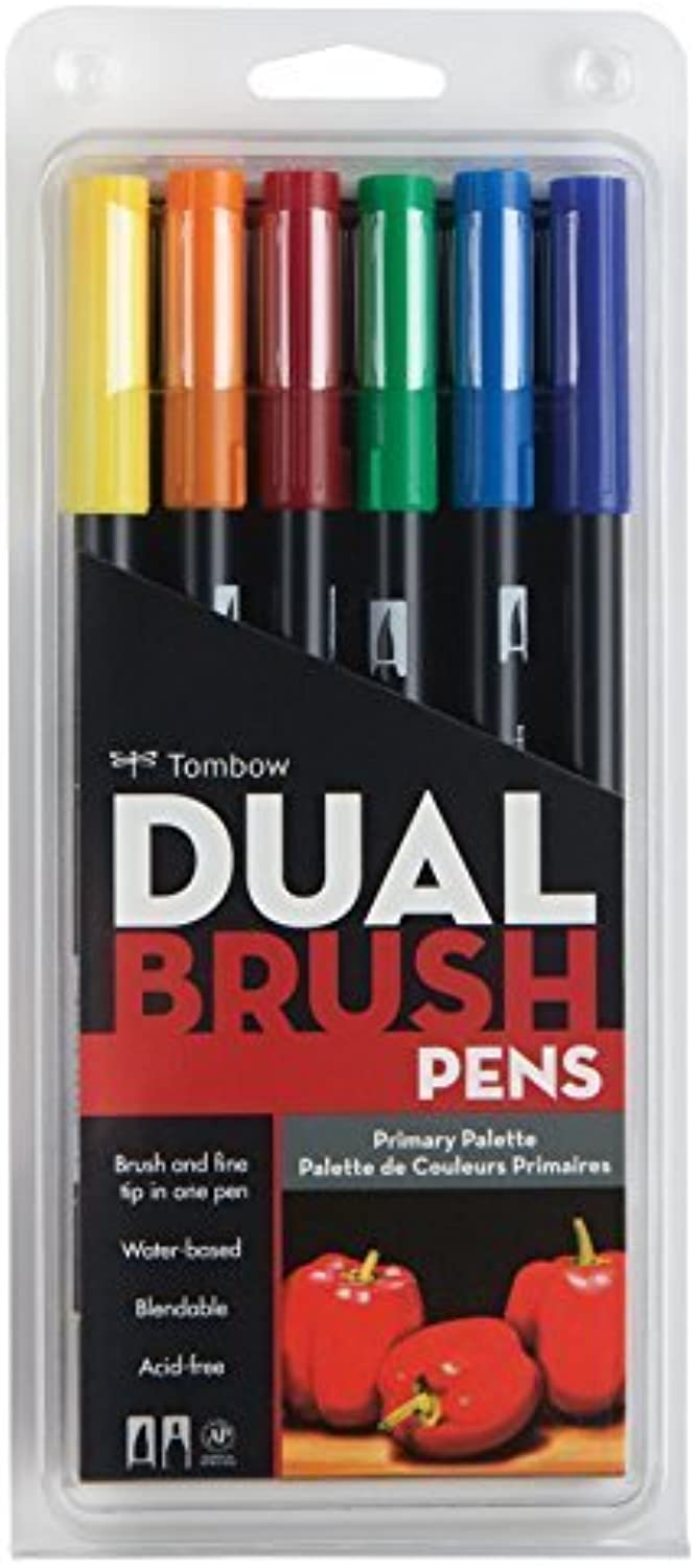 Tombow Primary Dual Brush Pens, Pack Pack Pack of 6, Multi-Colour by Tombow B01H2T51DM     | Vorzüglich