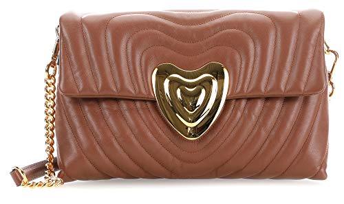 Escada Mittelgroße Heart Bag aus Leder AB775 ONE A214 Cognac