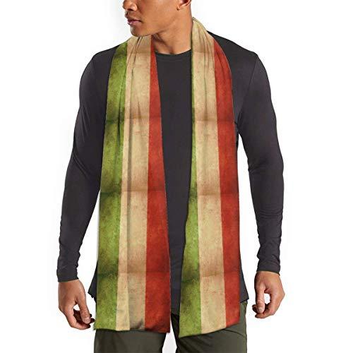 Schal mit italienischer Flagge, Retro, Italien, weich, leicht, lang, thermostatisch, antistatisch, atmungsaktiv, langer Schal, tragbar, bequem, Winterschals für Damen und Herren