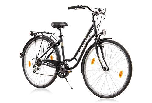 tretwerk DIREKT gute Räder Madeira 28 Zoll Citybike, Damen-Fahrrad 6-Gang Kettenschaltung